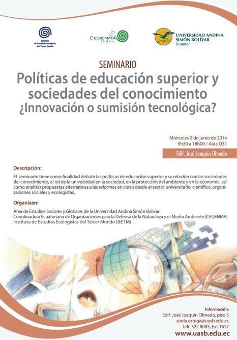 Evento Politicas Educacion superior UASB